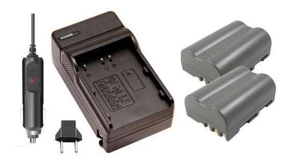 2 Baterias Carregador En-el3e+ P/ Nikon D100 D200 D300 D700