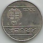 Moeda De 25 Centavos De Aruba