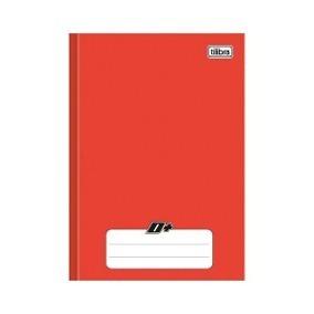 Kit 20 Cadernos Brochura 1/4 Capa Dura 48 Folhas D+ Vermelho