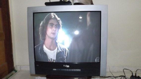 Tv 29 Philco Platinum Com Radio Fm + Controle (retro Game)