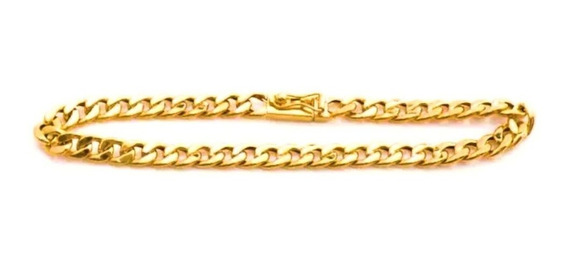 Pulseira Masculina Ouro 18k Elo Grumet 10g Oca 0016