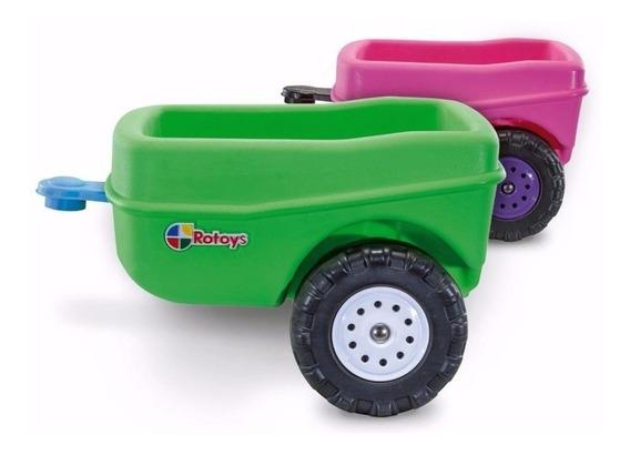 Trailer Rotoys 2060 Para Camioneta Rosa / Verde