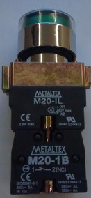 Botao Pulsador Iluminado Verde M20ifr-g-1c - Metaltex