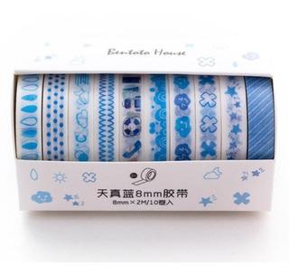 Washi Tape Deco De Figuras 10 Piezas Scrapbooking