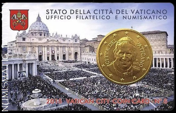 Vaticano Papa Francisco Blister Tarjeta Moneda Card N6 2015