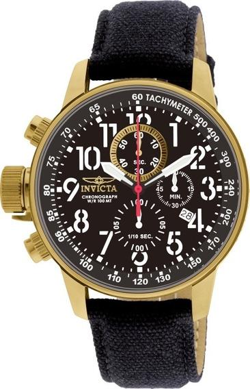 Relógio Invicta I Force 1515 Banhado Ouro Envio 24 Horas
