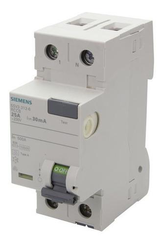 Interruptor Breaker Diferencial Siemens 2p 25a 30ma Full