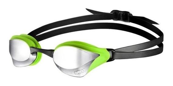 Óculos De Natação Cobra Core Mirror Preto E Verde Arena