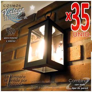 Artefacto Iluminacion P/ Pared Farol Moderno Patio Pack X35u