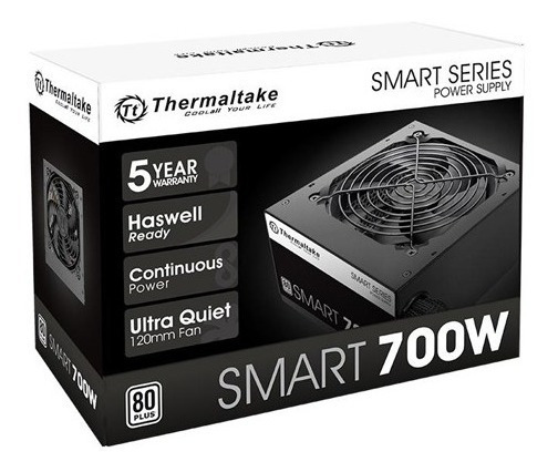 Fonte 700w Thermaltake Smart 80 Plus White Pfc Ativo C/ Nfe