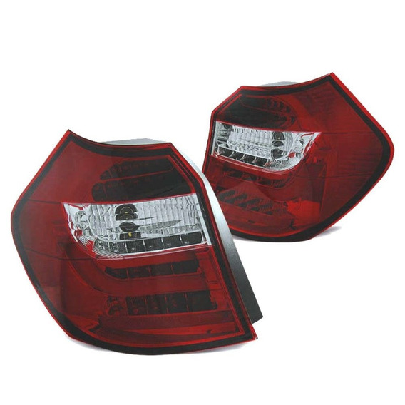 Lanterna Led Bmw S1 E87 E81 2007 A 2012 Cristal Red