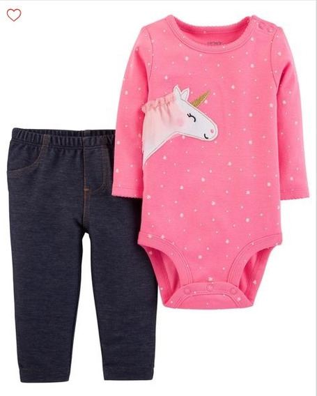 Set 2 Piezas Carters Unicornio Nena Body Y Pantalon