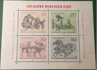 Estampillas De Berlín, Alemania. Serie 125 Aniv. Zoo Berlín