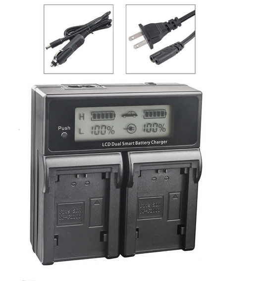 Carregador Duplo Para Bateria Fujifilm Np-w126 De Carga Rápida E Visor De Lcd (bivolt) Worldview