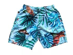 3476238e5 Bermuda Masculina Shorts Praia Estampado Coleção Verão 2019
