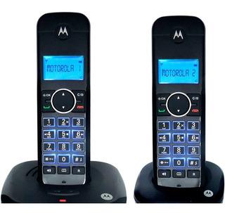 2 Teléfonos Inalámbricos Motorola Contestadora Alcance 300 M