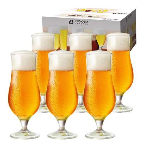Taça Ritzenhoff Cristal De Cerveja Tulipa Warst 340ml 6 Pcs