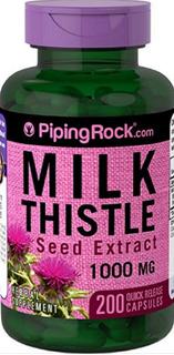 Cardo Mariano Santo Milk Thistl 1000 Mg 200 Cáps Piping Rock