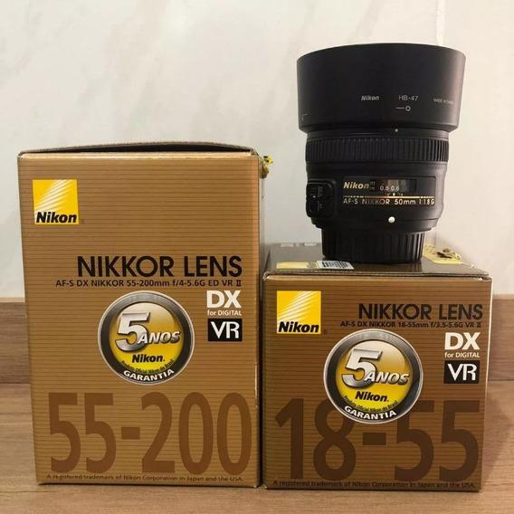 Lente Nikon Af-s 18-55mm + Bolsa