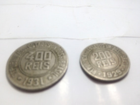 Moedas Raras 400 Reis De 1931 E 200 Reis De 1929