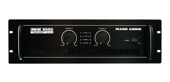 Amplificador Potência Mark Audio Mk8500 1500rms Mk-8500 Top