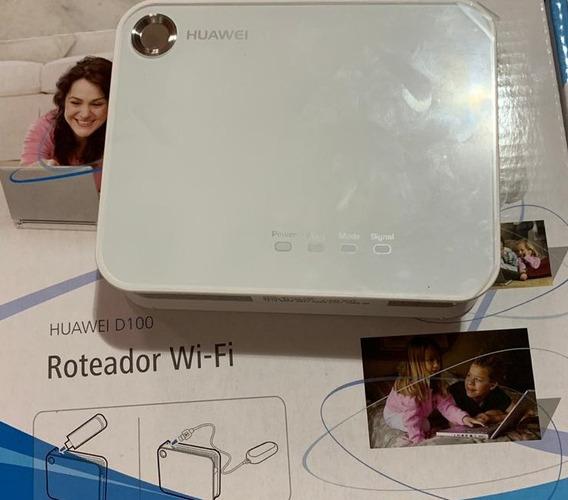 Mini Roteador Huawei D100 3g+ Wi-fi Entrada Usb Para Modem