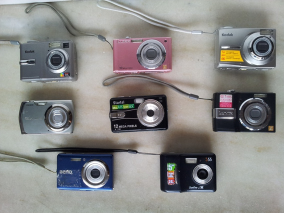 Lote 8 Câmeras Benq Casio Panasonic Kodak Sem Testes