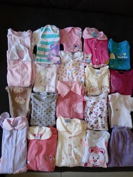 Enxoval Com 20 Peças Roupas Usadas Bebê Meninas P Ao G