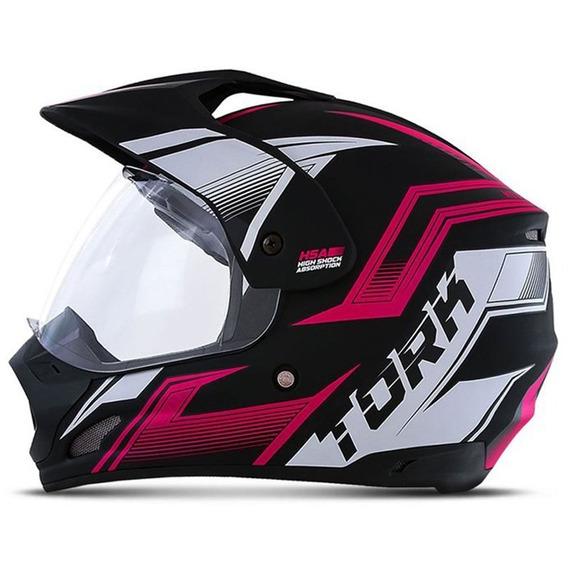Capacete Motocross Pro Tork Th1 New Adventure Feminino