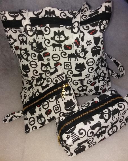 Kit Portacosmeticos Portatoallas Shopping Bag