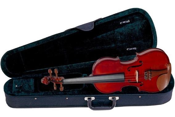 Kit Violino 4/4 Completo Profissional Arco + Breu C/ Estojo