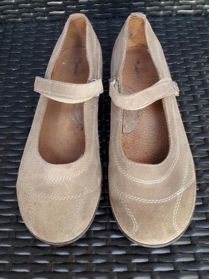 Zapatos Marcel Guillermina De Gamuza Con Abrojo Perfectas
