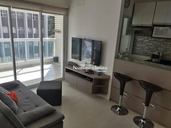 Apartamento Com 2 Dormitórios À Venda, 67 M² Por R$ 480.000,00 - Centro - Campinas/sp - Ap0573