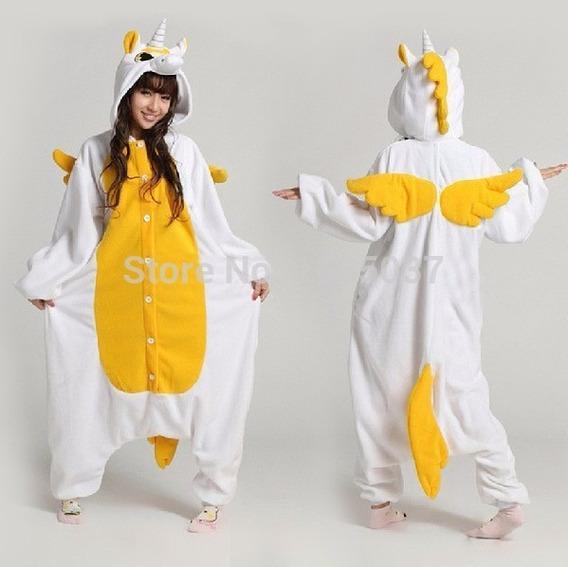 Pijama Dourado Unicórnio Kigurumi Frete Grátis Sob Encomenda