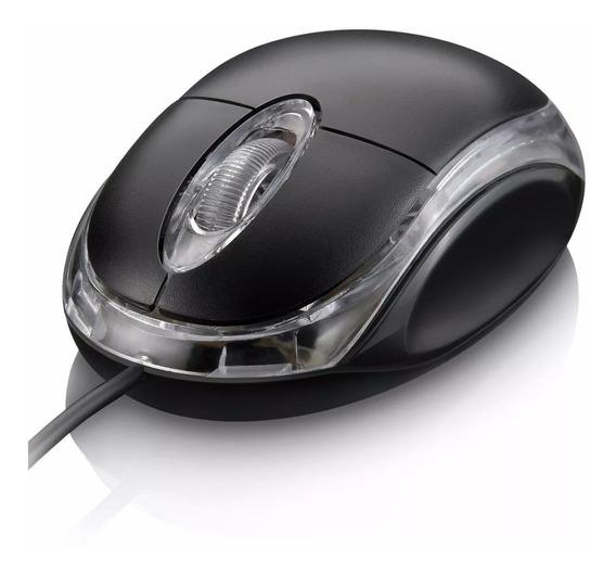 Mouse Usb Hardline Fm04 Led Vermelho Pequeno