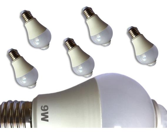 Lampada Led Inteligente Com Sensor De Movimento 9w Kit 5un