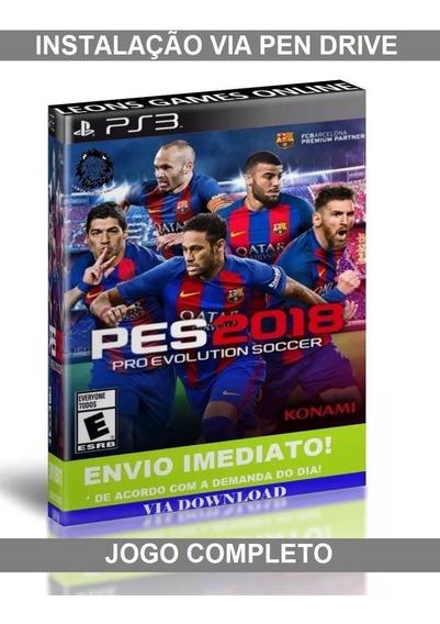 Pro Evolution Soccer 2018 - Ps3 - Instalar Via Pen Drive
