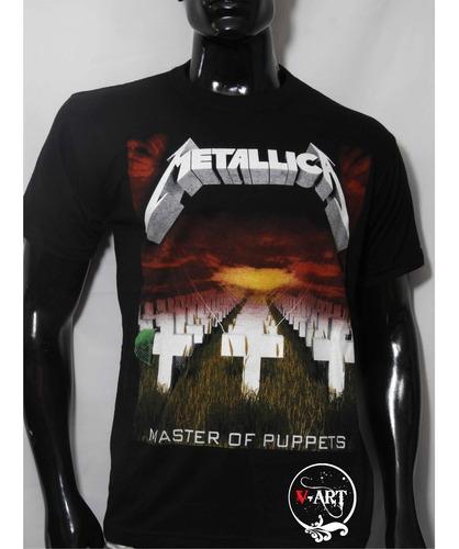 Camiseta Estampada Metallica V-art Bandas Rock Metal Comics