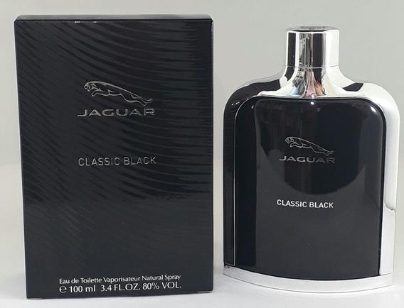 Perfume Masc Jaguar Classic Black 100ml Edt + Brinde Amostra
