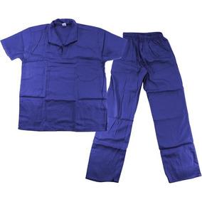 Jaleco Brim P/uniforme Azul, Cinza E Branco P,m,g,gg