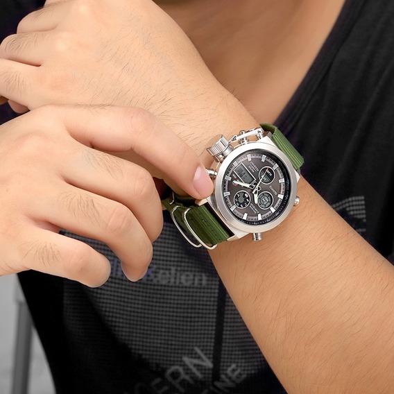 Relógio Masculino Militar Golden Hour Analógico E Digital