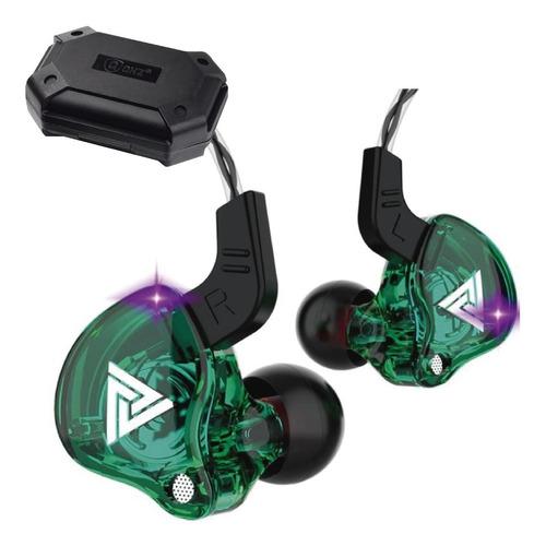 Imagen 1 de 6 de Qkz Ak6 Con Micro + Estuche Audifonos Auriculares Verde