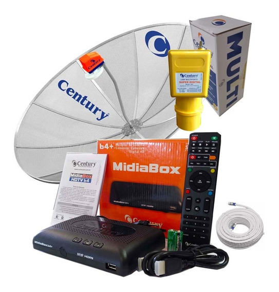 Antena Parabólica 1,90 Receptor Midiabox B4 Century Multi Cb