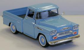 Miniatura Chevy Apache Pick-up 1958 Motormax Azul 1:24
