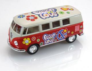 Camioneta Volkswagen Hippie - Peace & Love Bus 1/32 Escala