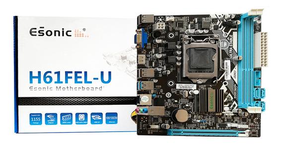 Placa Mãe H61 Ddr3 Hdmi Lga 1155 / Processador Core I3 I5 I7