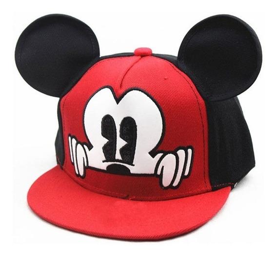Gorra Mickey Mouse Para Niño Niña Roja Negra