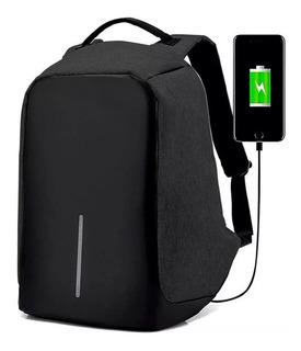 Mochila Backpack Antirrobo Impermeable Puerto Usb Seguridad