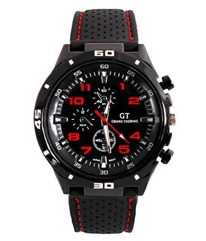 Relógio Esportivo Masculino Vermelho E Preto