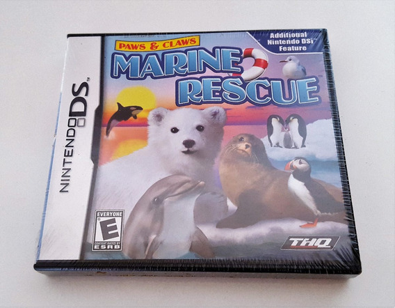 Marine Rescue Paws & Claws Nintendo Ds Dsi 3ds Jogo Original Mídia Física Novo Envio Apenas 12,00